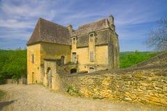село Франции cazenac beynac средневековое Стоковые Изображения RF
