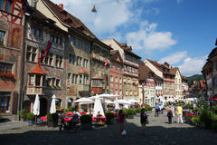 село швейцарца глиняной кружки rhein Стоковая Фотография RF