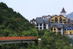 село швейцарца железной дороги стоковые изображения rf