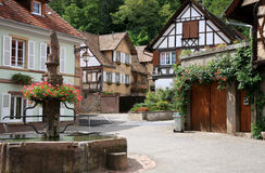 село alsace стоковое фото rf