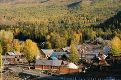 село baihaba стоковое фото rf