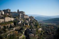 село gordes Франции стоковое фото rf