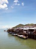 село hong рыболовства традиционное стоковое изображение rf