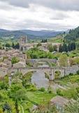 село lagrasse Франции стоковая фотография rf