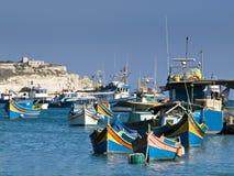 село malta рыболовства Стоковая Фотография RF