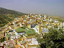 село moroccan холма Стоковые Фото