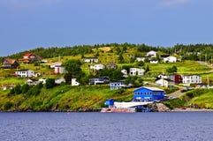 село newfoundland рыболовства стоковые изображения