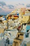 Село Oia на острове Santorini, Греции Стоковые Изображения RF