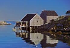 село peggy s рыболовства бухточки Стоковое фото RF