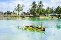 село philippines fishermans Стоковые Фотографии RF