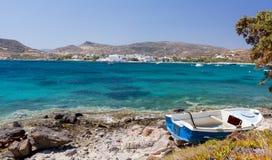 село pollonia milos острова cyclades Греции Стоковое Изображение RF