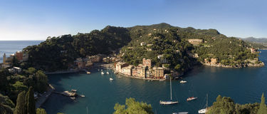 село portofino Италии Лигурии чудесное Стоковая Фотография RF