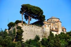 село portofino свободного полета ligurian стоковые фото