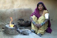 село rajasthani 2 жизней стоковая фотография