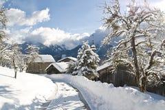 село samoens au de dessus Стоковое фото RF