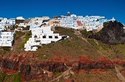 село santorini острова imerovigli Греции Стоковое Фото