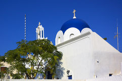 село santorini церков Стоковое Изображение RF