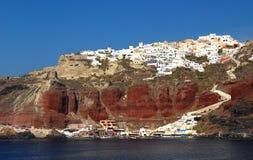 село santorini oia стоковое изображение rf