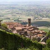 село tuscan cortona стоковые изображения rf