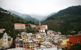 село vernazza Италии Стоковое Изображение