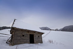 сельская зима пейзажа Стоковое Фото