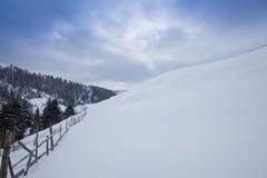сельская зима пейзажа Стоковые Фотографии RF