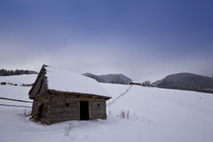 сельская зима пейзажа Стоковая Фотография