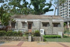 Сельская каменная дом стоковое изображение rf