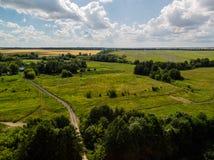 Сельская местность в лете в России стоковая фотография