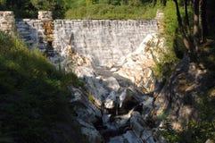 сельская местность запрудила реку Стоковое Изображение