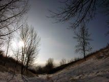 сельская местность зимняя Стоковые Изображения RF
