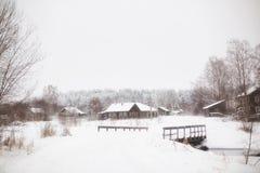 Сельская местность зимы снежная стоковое изображение rf