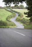 сельская местность своя замотка путя дороги Стоковая Фотография RF