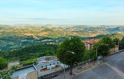Сельская местность Тосканы, San Gimignano, Италия Стоковое Изображение RF