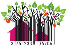 сельская местность barcode Стоковые Изображения