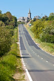 Сельская дорога на западном франция Стоковая Фотография RF