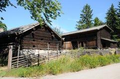 сельские дома шведские Стоковая Фотография RF