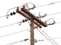 Сельские опоры линии электропередач: Пасмурный Стоковые Фото