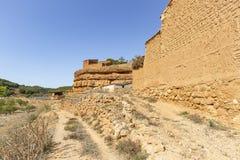 Сельские хижины сделали из глины - пригорода городка Jaraba стоковое фото