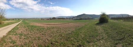 Сельский взгляд ландшафта к баварской сельской местности стоковое фото