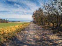 Сельский взгляд ландшафта стоковое фото