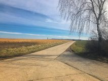 Сельский взгляд ландшафта стоковые фото