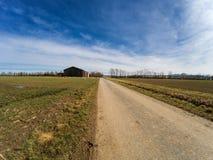 Сельский взгляд ландшафта стоковое изображение