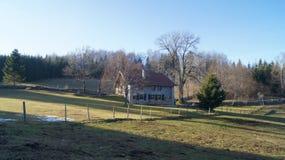 Сельский дом в Юре, Франции Стоковое фото RF