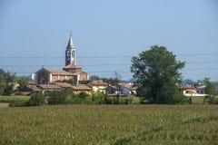 Сельский ландшафт вдоль пути цикла Po Стоковое фото RF