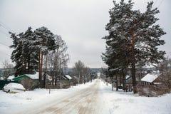 Сельский ландшафт зимы в республике Karelia Стоковые Изображения RF