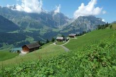 Сельский ландшафт на Engelberg Стоковая Фотография RF