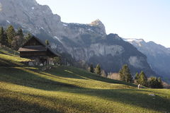 Сельский ландшафт на Engelberg Стоковое фото RF
