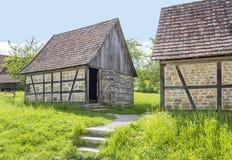 Сельский пейзаж с амбаром Стоковая Фотография