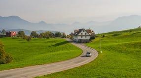Сельский пейзаж Luzern, Швейцарии стоковое изображение rf
